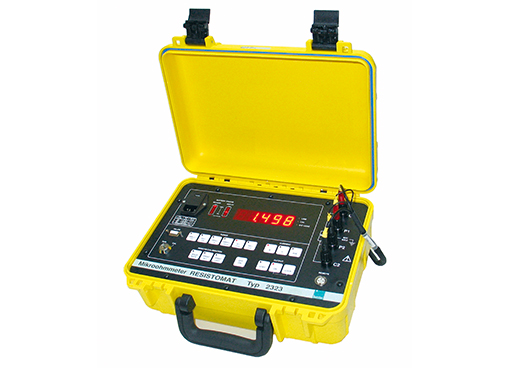 netzunabhängiges micro ohmmeter resistomat 2323 burster portable battery operated micro ohmmeter resistomat 2323
